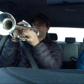 Sometimes you gotta practice in the car...