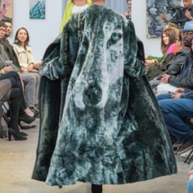 Fur coat sew by me for a fashion show in 2018