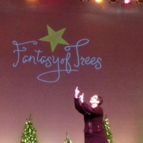 Performing at Fantasy of Trees.