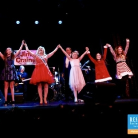 Taking a bow W/voice students /Resorts Casino Christmas holiday show Marines Toys for Tots !! 2018