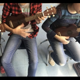 Two joys in my life-my students and the ukulele!