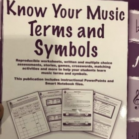 It's time to work on some music notation and theory!
