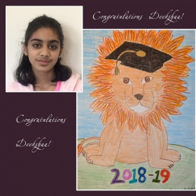 Join us in congratulating Deekshaa R. for winning the school yearbook cover contest at Stratford School, SC, for the 2018-2019 school year!