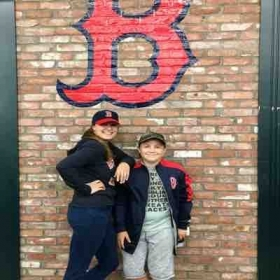 My brother and I checking out the Boston Red Sox' Fenway Park Tour and it's surroundings