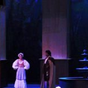 Singing Barbarina in Le Nozze di Figaro.