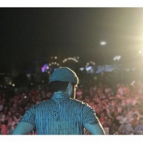 One of the crowds my band performed for in Qingdao, China.