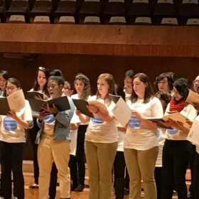Performing with the UNCP Pembroke Singers at UNAM in Mexico City, Mexico