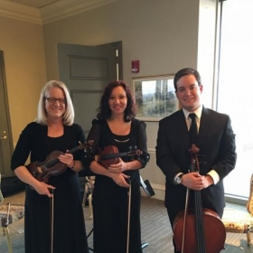 Had just finished playing a wedding with my mom and a friend.