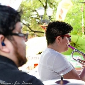 Me playing trumpet for Tejano Artists Crystal Torres