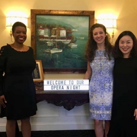 Operatic Favorites program in Edgewater, MD; mezzo-soprano Elise Jenkins, pianist Ka Nyoung Yoo