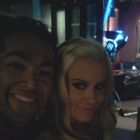 On the set of a Blu ecig commercial with Jenny McCarthy