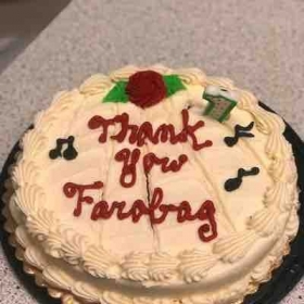 Rick, who is learning the violin and piano, surprised me with this wonderful cake for completing our first year together.