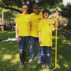 Hurricane Harvey volunteer clean up duty.