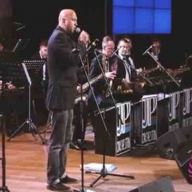 Here I am with the Saint Petersburg Jazz Philharmonic in Russia.