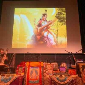Beautiful set up for the concert at Naropa University.