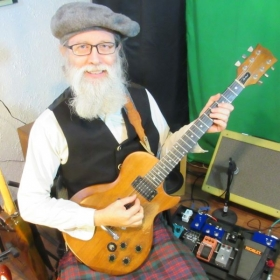 The kilted guitarist
