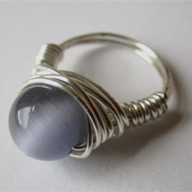 Wire Wrapped Tiger's Eye Ring