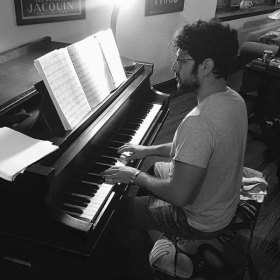 Playing at one of my favorite pianos