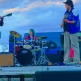 Playing at an event in Pocatello