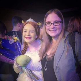 One of my private vocal students after her performance in Shrek!