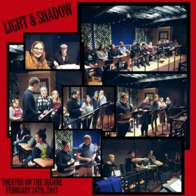 Rehearsals for Light and Shadow the original musical I have co-written. The workshop was done at Theater On The Square in Indianapolis.