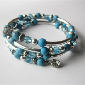 Memory Wire Stacked Bracelet