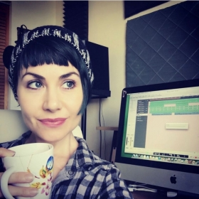 Tea time!!  Love to work on productions for my artists!
