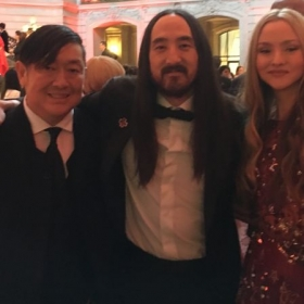 Steve and Devon Aoki - The Red Cross Gala