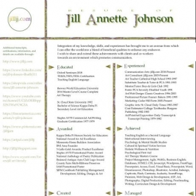 Resume Jill Annette Johnson