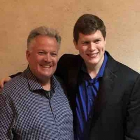 Dave washboard and Trevor Johnson after Trevor's senior recital