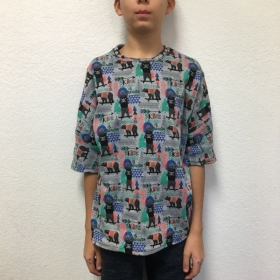 Fall 2018 Homeschool student in self-drafted t-shirt