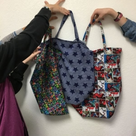 Fall 2018 Intro sewing class - tote bags
