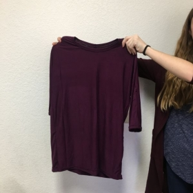 Fall 2018 homeschool student with self-drafted t-shirt