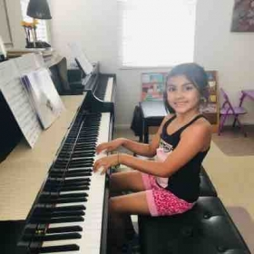 She loves The Queen group and that motivates her to play piano.