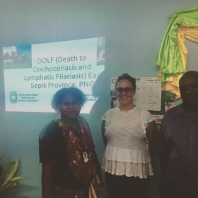 Educating the local hospital on our research project in East Sepik Provice, Papua New Guinea with my colleagues.