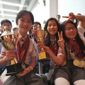 My students in China winning trophies in their essay contest!