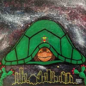 """I am a Turtle"", 2018  Acrylic on canvas 10 X 8"