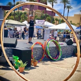 Hula Hooping for a great cause, at the 'Relay For Life' Community VS Cancer organization