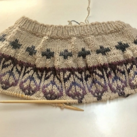 Colorwork sweater in progress