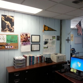 I do my best to keep a clean and organized workspace to optimize student learning.