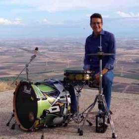 Drummer on the hills