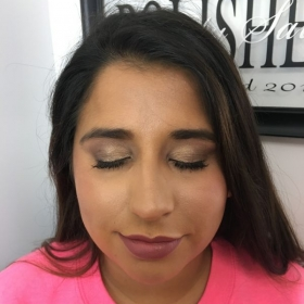 Another lovely bridesmaid makeup done for this lady.