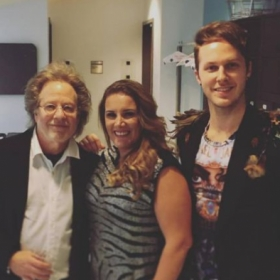 With legendary songwriter Steve Dorff, and X Factor UK winner Sam Bailey. I've had the pleasure of working with them both several times.