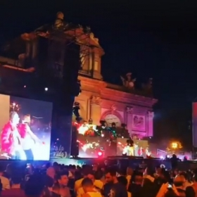 "Performing at the Puerta de Alcala in Madrid for ""World Pride Madrid 2017"""
