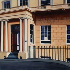 Commission for Crown Estate (HRH Queen of England) Headquarters Building. oil on canvas Courtney Miller Bellairs 2005
