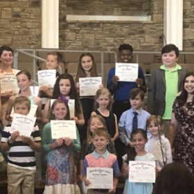 Students with their Guild Certificates! Taken at our most recent Spring Recital (May 2019)