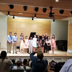2019 spring student's recital June 2, 2019 at Ewell Recital hall, College of William and Mary