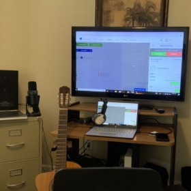 My setup for giving online lessons.