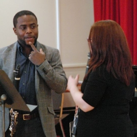 Masterclass with Anthony McGill, principal clarinetist of the New York Philharmonic, in 2016. I played the Mozart Clarinet Concerto for him.