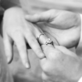 The ring exchange from a wedding.